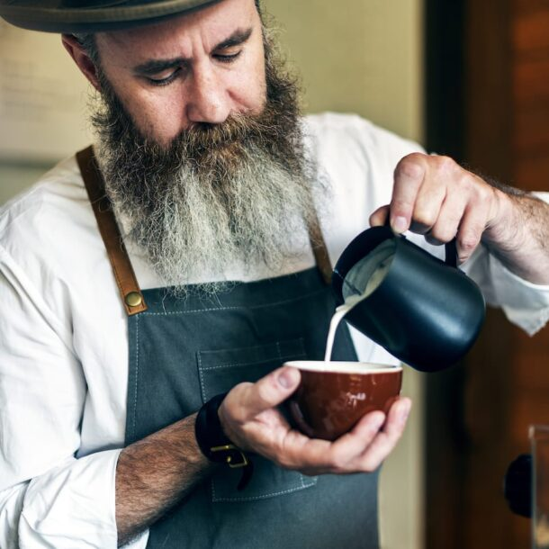 Barista Pouring Coffee